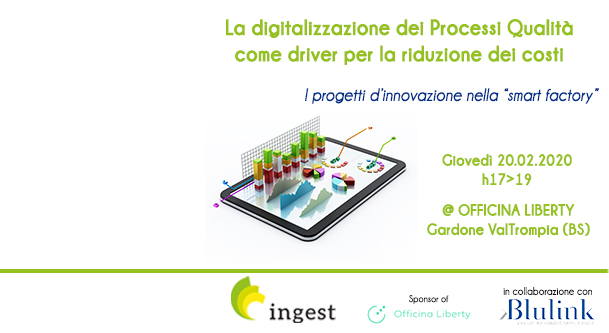 Gestione Qualità, software gestionale - Evento Ingest e Blulink
